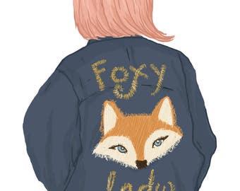 Foxy Lady Vinyl Sticker