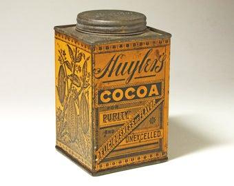 Vintage Huyler's Cocoa Tin - circa 1906