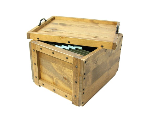 File Box, File Organizer, Filing System, Wooden Box for Files, Small File Cabinet, Hanging File Organizer, File Sorter, File Storage Box