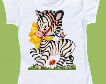 Zebra and Bluebird, Baby one piece, Zebra shirt, Boys T Shirt, Girls TShirt, Zoo Tee,New Baby Gift, Baby Shower by ChiTownBoutique.etsy