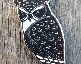 Horned Owl Lapel Pin