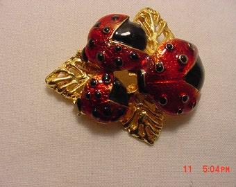 Vintage Lady Bug Brooch  17 - 130
