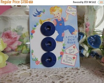 ON SALE Vintage Ink Well Buttons-Navy Blue
