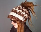 Messy Hair Bun Newsboy Hat Dreadlock Hat Steampunk