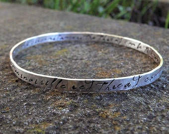 10 dollars off: An Invisible Red Thread...an Adoption Bangle