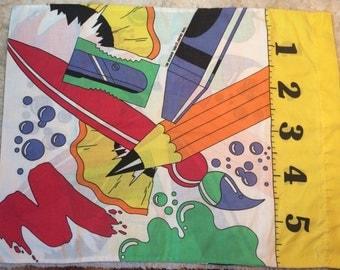 1993 Cool Colors Pillowcase Art Attack Artist Coloring