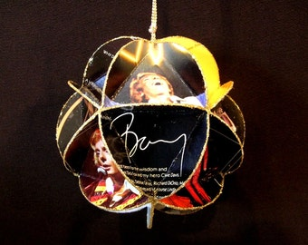 Barry Manilow Album Cover Ornament Made From Record Jackets