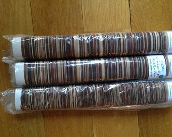 Saori ready made Brown and Tan cotton warp