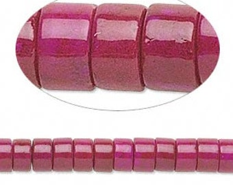 100 Riverstone 6x4mm Rose Rondelle Gemstone Beads 16 Inches Strand
