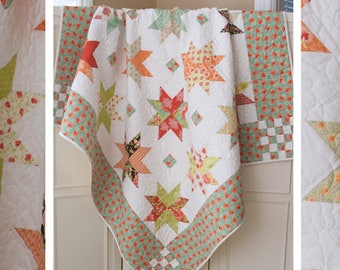 """THE PATTERN BASKET (Quilt Pattern): """"Stars in the Snow"""" - Design by Margot Languedoc"""