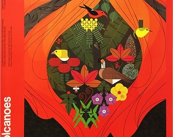 Hawaii Volcanoes Poster by Charley Harper