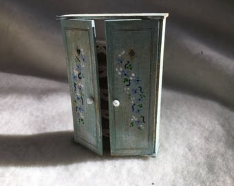 Dolls House Luxury Hand Painted 1/24th Tall Cupboard - NEW SPRING 2017
