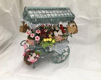 Dolls House Luxury Dressed 1/12th Flower Cart - NEW SPRING 2017