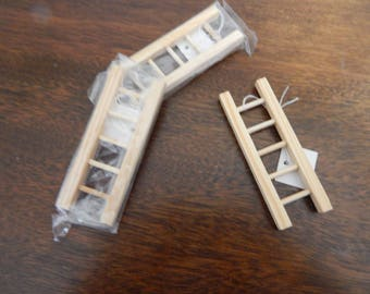"""Wooden 3 1/2"""" Ladders, Set of 3"""
