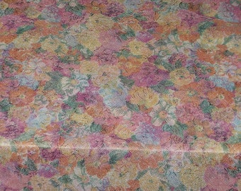 Vintage Semi Sheer Lauratex Floral Fabric 3 Yards X 60 Wide Floral Sewing Quilting Crafting Fabric 4172