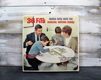 Rare 1966 36 Fits Game by Watkins Strathmore Co., Board Game, Switchboard, Hey Culligan Man