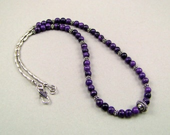 Sugilite Sterling Silver Necklace - N78