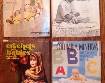 Vintage Columbia Minerva Baby Knitting Magazine Lot Instructions Patterns