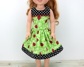 """14.5"""" Doll Clothes- 14 inch Dress for AG Wellie and Hearts for Dolls - Wishers Dress - 14"""" Doll Clothes - For Hearts Dress - Wisher - Wish"""