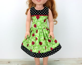 "14.5"" Doll Clothes- 14 inch Dress for AG Wellie and Hearts for Dolls - Wishers Dress - 14"" Doll Clothes - For Hearts Dress - Wisher - Wish"