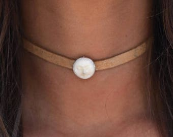 MOON LEATHER CHOKER /// Man in the Moon
