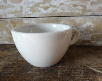 Vintage Ironstone Heavy Coffee  White Mug or Cup Ironstone