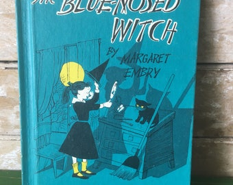 Vintage The Blue Nosed Witch Halloween Child's Book 1956