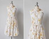 vintage 1960s dress / 60s fall dress / floral print dress / Kolob dress