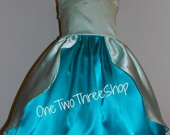 Little Mermaid Ariel Inspired Gown Dress Custom Boutique Clothing Costume Dressup Halloween