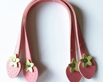 Atsuko Matsuyama's Original Sweet Fruit Handles - Small pink Strawberry by Lecien Fabrics