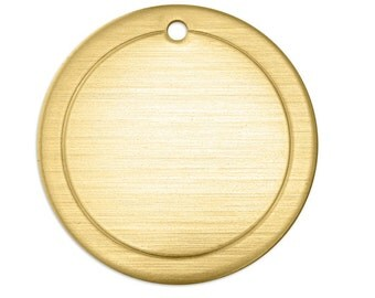 Brass Stamping Blank-Border Circle-Impressart 1 inch 18g Metal Stamping Supplies by Metal Supply Chick-3 Pack