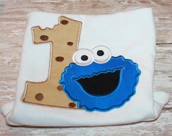 Cookie Monster Birthday Shirt-Cookie Shirt-1st Birthday Onesie-Birthday Shirts-Personalzied Birthday Shirt-First Birthday Shirt