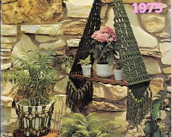 Vintage Macrame Pattern 1970s Hippie Bohemian Decor Wallhanging Planters Macrame Magic Complete Booklet Instant Download PDF Majik Horse