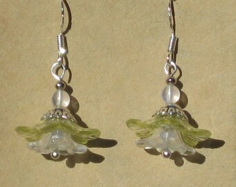 Fairy Flower Earrings with Opalite Beads