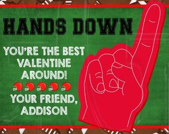 Football Valentine's Card-Digital File