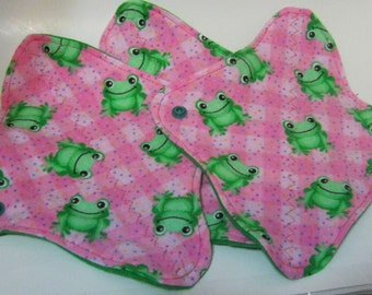 3 Cloth Panty Liners-Frogs