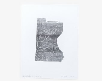 Neighborhoods of Hartford Art Print