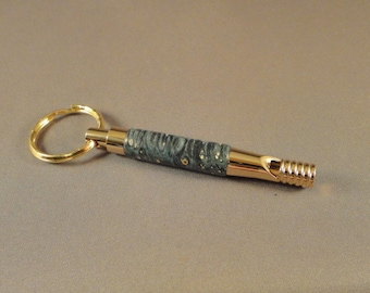 Keychain - Security Whistle - Box Elder Burl Wood