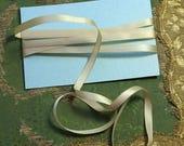 "ON SALE 2.3 yard  lot antique ribbon silk satin cream trim millinery 1920s flapper cloche tiny 1/4"" hat trim embellish ribbonwork"