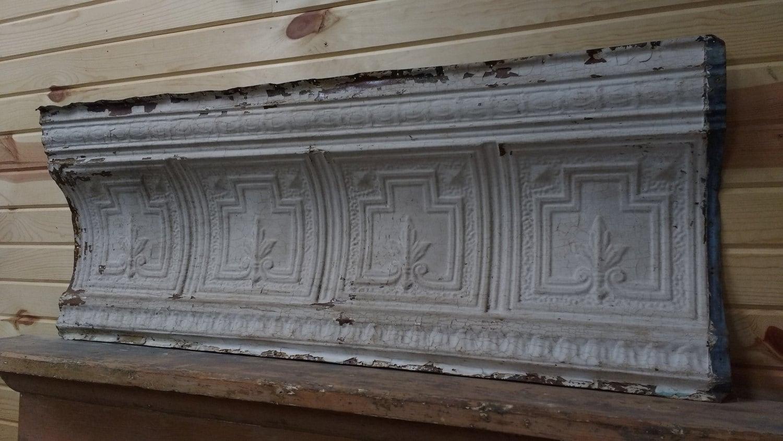 Pressed Tin Panel Antique Pressed Tin Crown Molding Tin
