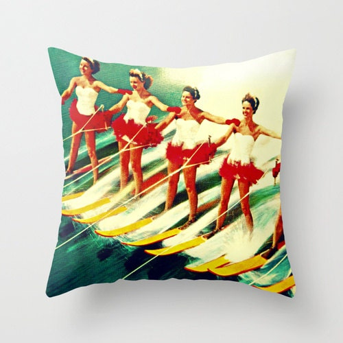 Mid century modern art pillow gifts vintage by vintagebeach - Mid century modern gifts ...