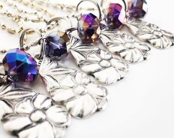 Royal Purple Mini Silverware Pendants