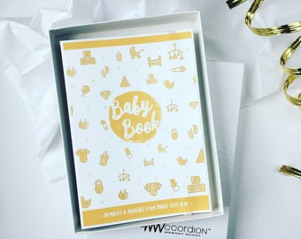 Ready to ship - Baby Shower Gift // Baby Memory Book // Gender Neutral // Yellow and Gray