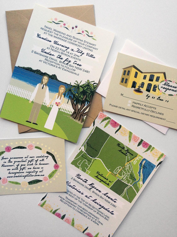 Upgraded rsvp card custom illustrated wedding invitations design upgraded rsvp card custom illustrated wedding invitations design fee stopboris Gallery
