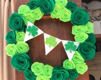 St. Patrick's Day Wreath, Shamrock Wreath, Green Wreath, St. Patrick's Day Decorations, Clover Wreath, St. Patrick's Day Decor