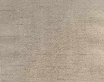 Custom Curtains Valance Roman Shade Shower Curtains in Taupe Slub Polyester Silk Fabric