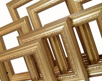 Picture Frame Picture Frame Antique Gold Picture Frame Set Wood Ornate Frames Gold Wedding Frames Wall Decor Gallery Frames Photography