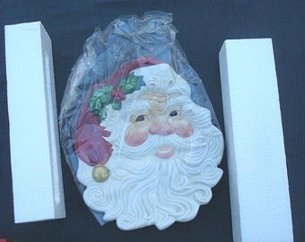 Santa Claus Christmas Serving Tray Canape Plate Fitz and Floyd  Christmas Plate Christmas Serving Dish Christmas Party Santa Claus Plate
