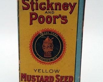 Antique Mustard Seed Box