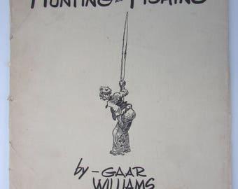 HUNTING & FISHING Gaar Williams 1935 Reprinted from Chicago Tribune Portfolio 20 Vintage Paper Ephemera Memorabilia Cartoons Humor